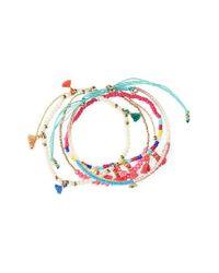 Panacea | Multicolor Multistrand Beaded Tassel Stretch Bracelet | Lyst