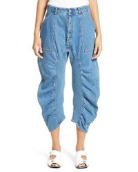 Stella McCartney - Blue Xenia Ruched Crop Jeans - Lyst