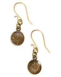 Virgins, Saints & Angels - Metallic Virgin Saints & Angels San Benito Drop Earrings - Lyst