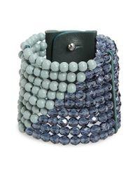 Fairchild Baldwin - Green Masai Beaded Bracelet - Lyst