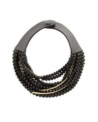 Fairchild Baldwin | Black Mini Bella Beaded Collar Necklace | Lyst