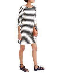 J.Crew | Black Stripe T-shirt Dress | Lyst