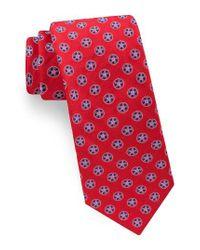Ted Baker | Red Lifesaver Medallion Silk Tie for Men | Lyst