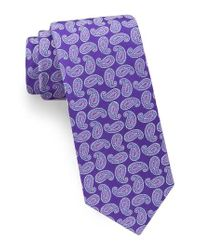 Ted Baker | Purple Paisley Silk Tie for Men | Lyst