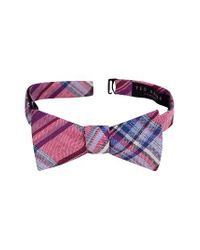 Ted Baker | Red Swanky Plaid Linen & Cotton Bow Tie for Men | Lyst