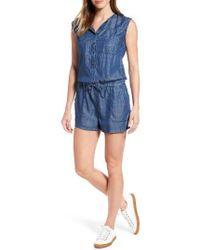 Mavi Jeans - Blue Cecile Lightweight Denim Romper - Lyst