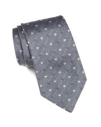 John Varvatos | Blue Star Print Silk Tie for Men | Lyst