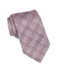 John Varvatos | Purple Plaid Cotton & Silk Tie for Men | Lyst