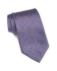 John Varvatos | Purple Check Silk Blend Tie for Men | Lyst
