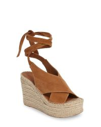 Marc Fisher | Brown Andira Platform Wedge Sandal | Lyst