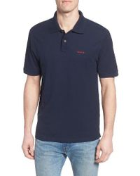 Patagonia | Blue Belwe Relaxed Fit Pique Polo for Men | Lyst