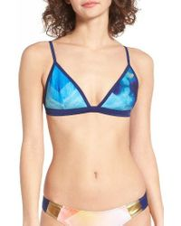 Roxy | Blue Pop Surf Tiki Triangle Bikini Top | Lyst