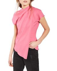 TOPSHOP | Pink Origami Top | Lyst
