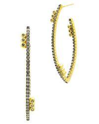 Freida Rothman | Metallic Baroque Blues Hoop Earrings | Lyst