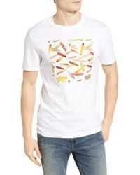 Original Penguin | White Heritage Surfboard Graphic T-shirt for Men | Lyst