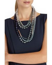 Lafayette 148 New York | Blue Ombre Bead Necklace | Lyst