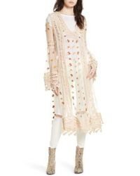 Free People   Natural Finest Heart Lace Maxi Tunic   Lyst