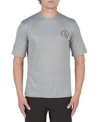 Volcom - Gray Short Sleeve Rashguard for Men - Lyst