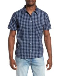 RVCA | Blue Check Woven Shirt for Men | Lyst