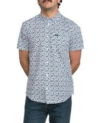 RVCA | White Print Woven Shirt for Men | Lyst