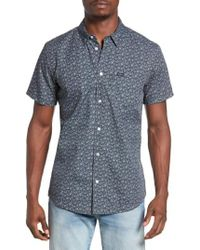 RVCA | Black Print Woven Shirt for Men | Lyst