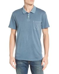 RVCA | Red Ptc Pigment Pocket Polo for Men | Lyst