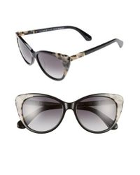 Kate Spade | Black Sherylyn 54mm Sunglasses | Lyst