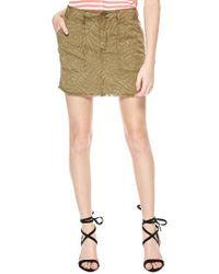 Sanctuary | Green Lily Print Twill Miniskirt | Lyst