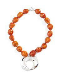 Simon Sebbag | Orange Semiprecious Stone Abstract Pendant Necklace | Lyst