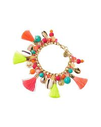 Lilly Pulitzer | Multicolor Lilly Pilitzer Boho Beach Charm Bracelet | Lyst
