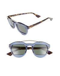 Dior   Gray Mania 50mm Retro Sunglasses - Havana/ Grey   Lyst