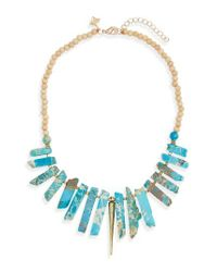 Panacea | Blue Spike Statement Necklace | Lyst