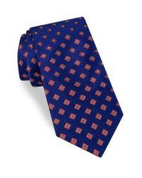 Ted Baker | Blue Open Grounded Geometric Silk Tie for Men | Lyst