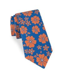 Ted Baker   Blue Hibiscus Floral Cotton & Silk Tie for Men   Lyst