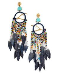 Tory Burch | Multicolor Embellished Drop Earrings | Lyst