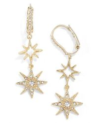 Jenny Packham - Metallic Stardust Drop Earrings - Lyst