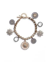 Jenny Packham | Metallic Charm Bracelet | Lyst