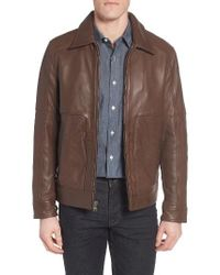 Marc New York | Brown By Andrew Marc Herrod Perforated Leather Jacket for Men | Lyst