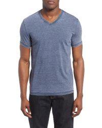 Lucky Brand   Blue Burnout T-shirt for Men   Lyst