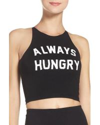 Private Party | Black Always Hungry Crop Tank | Lyst