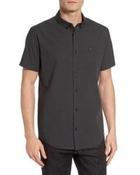 RVCA | Black That'll Do Microcheck Woven Shirt for Men | Lyst