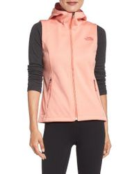 The North Face | Pink Canyonwall Hardface Fleece Vest | Lyst