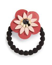 Cara | Red Flower Ponytail Holder | Lyst