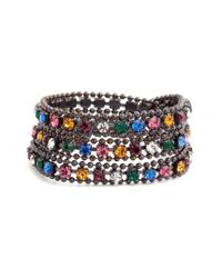 Loren Hope | Multicolor Glenn Crystal Wrap Bracelet | Lyst