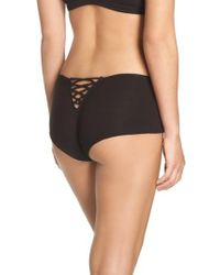 Honeydew Intimates | Black Tie Back Hipster Panty | Lyst