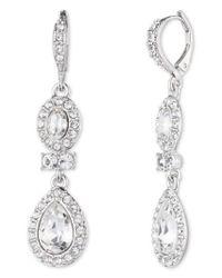 Givenchy   Metallic Pear Double Drop Earrings   Lyst