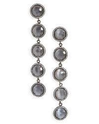 Susan Hanover - Green Five-stone Drop Earrings - Lyst