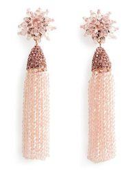 BaubleBar - Pink Chrysanthemum Drop Earrings - Lyst