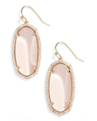 Kendra Scott | Metallic Elle Pave Drop Earrings | Lyst