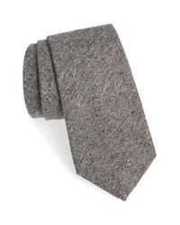 Michael Bastian | Gray Solid Silk & Cotton Tie for Men | Lyst